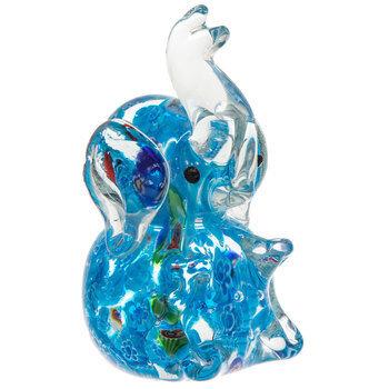 Light Blue Glass Elephant