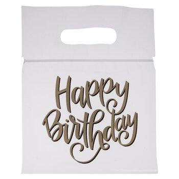 Gold & Black Happy Birthday Zipper Bags