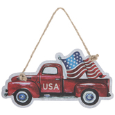 USA Red Truck Ornament