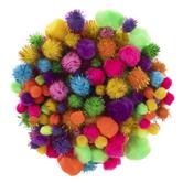 Assorted Solid & Tinsel Pom Poms