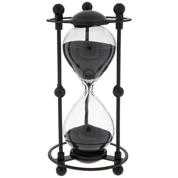 Hourglass With Metal Frame