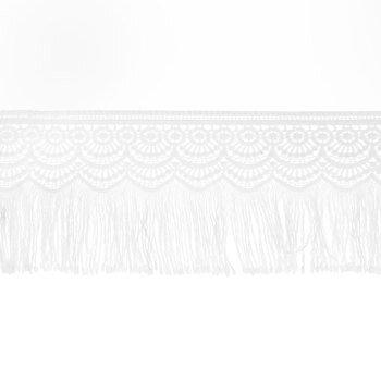 White Lace Tassel Trim