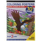 Wild Animals Coloring Posters