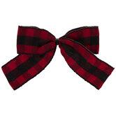 Red Buffalo Check Twist Tie Bows