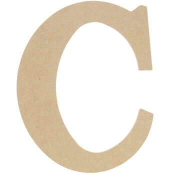 "Wood Letter C - 9 1/2"""