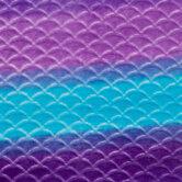 Purple & Blue Mermaid Ombre Fleece Fabric