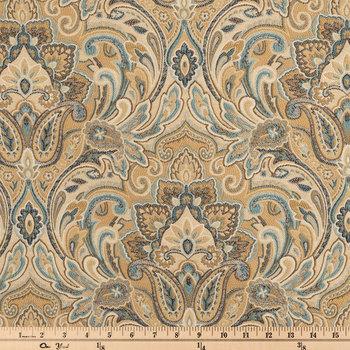Gold Chinaisa Paisley Fabric