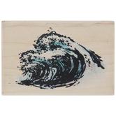 Ocean Waves Rubber Stamp