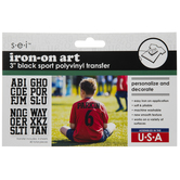 Sport Iron-On Applique Alphabet