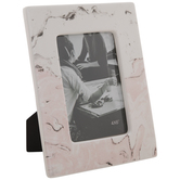 """Pink & White Marble Frame - 4"""" x 6"""""""