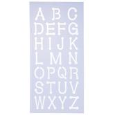 Uppercase Dot Alphabet Stencils