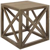 Crisscross Wood Table - Small