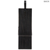 Black Clothespin Wood Wall Decor
