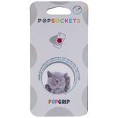Sleeping Gray Kitten Pop Socket
