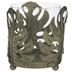 Gold Leaf Metal Candle Holder