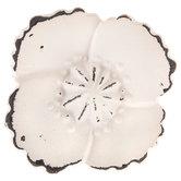 White Flower Metal Knob