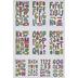 Multi Cartoon Alphabet Stickers