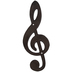 Treble Clef Metal Wall Decor - Large