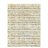 """Cream Sheet Music Textured Scrapbook Paper - 8 1/2"""" x 11"""""""