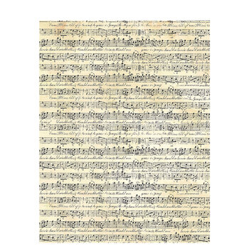 "Cream Sheet Music Textured Scrapbook Paper - 8 1/2"" x 11"""