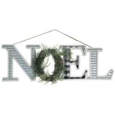 Noel Wreath Wood Wall Art