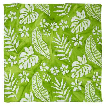 Lime Green Palm Leaves Bandana