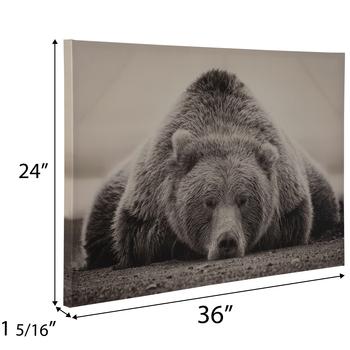 Bear Canvas Wall Decor