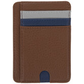 Brown Faux Leather Card Holder