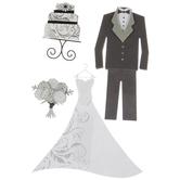 Wedding Attire 3D Stickers