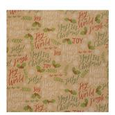 Kraft Christmas Phrases Gift Wrap