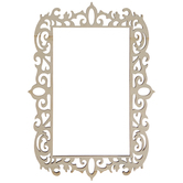 "Ornate Rectangle Wood Frame - 3"" x 5"""