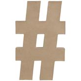 """Paper Mache Hashtag - 16"""""""