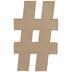 Paper Mache Hashtag - 16