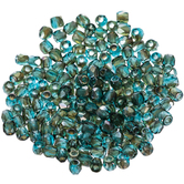 Aqua Celsian Round Faceted Fire Polished Beads - 2mm