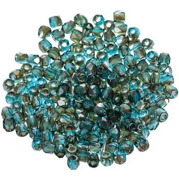 Round Faceted Fire Polished Beads - 2mm