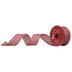 Red & Cream Gingham Wired Edge Ribbon - 1 1/2