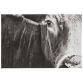 Black & White Cow Face Canvas Wall Decor