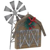 Barn & Windmill Ornament