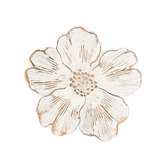Distressed White Flower Wall Decor - Small