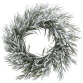Flocked Rosemary Mini Wreath