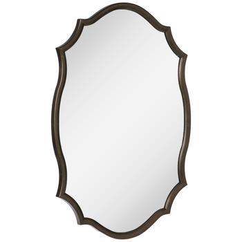 Quatrefoil Wood Wall Mirror