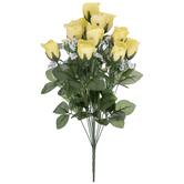 Yellow Rose & Gypsophila Bush