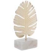 Gold Palm Leaf Metal Decor