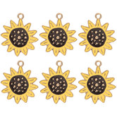 Sunflower Charm Embellishments