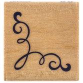 Classic Corner Swirl Rubber Stamp