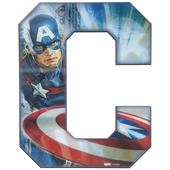 Captain America Lenticular Letter Wood Wall Decor - C