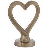Gold Heart Outline Cake Topper