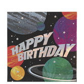 Space Happy Birthday Napkins - Large