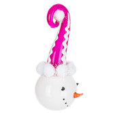 Snowman With Pink Hat Ornament