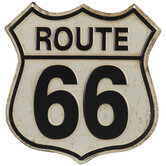 Rustic Route 66 Metal Sign